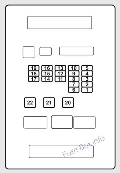 Interior fuse box diagram (passenger's side): Acura ZDX(2010, 2011, 2012, 2013)