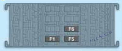 Trunk fuse box diagram: Jeep Renegade (2014, 2015)