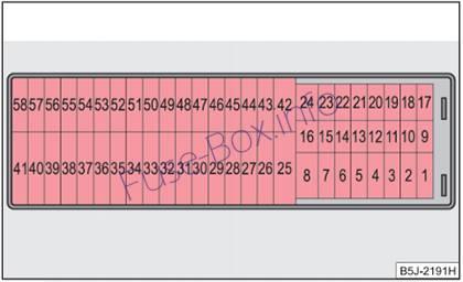 skoda fabia 1 2 fuse box layout fuse box diagram > skoda fabia (mk2/5j; 2007-2014)