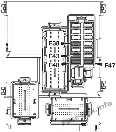 Fuse box diagram (Dashboard): Alfa Romeo 4C (2013, 2014, 2015, 2016)