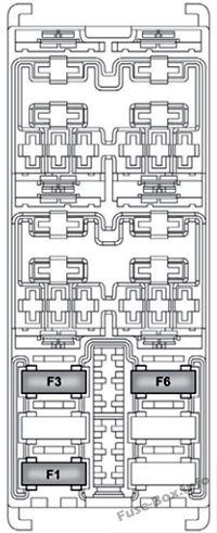 Sicherungskastendiagramm (Sicherungskasten im Gepäckraum): Alfa Romeo MiTo (2014)
