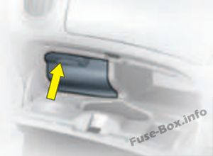 to access the fuses, open the glove box, pull the handle on the fuse box  cover
