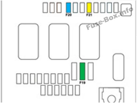 Under-hood fuse box diagram: Citroen C4 Picasso II (2013, 2014, 2015)