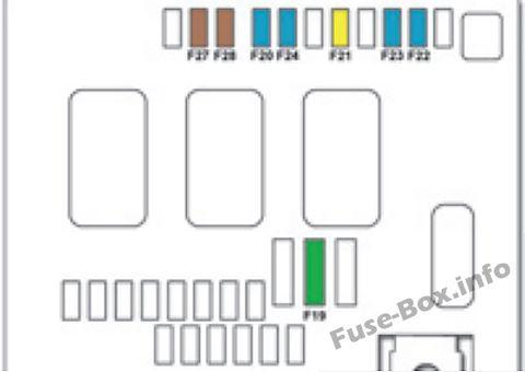 Under-hood fuse box diagram: Citroen DS4 (2011, 2012, 2013, 2014, 2015, 2016, 2017, 2018)
