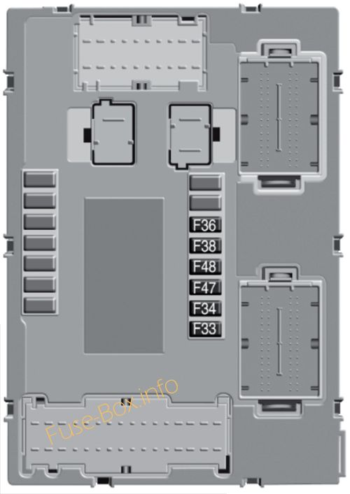 Instrument panel fuse box diagram: Fiat 500X (2015)