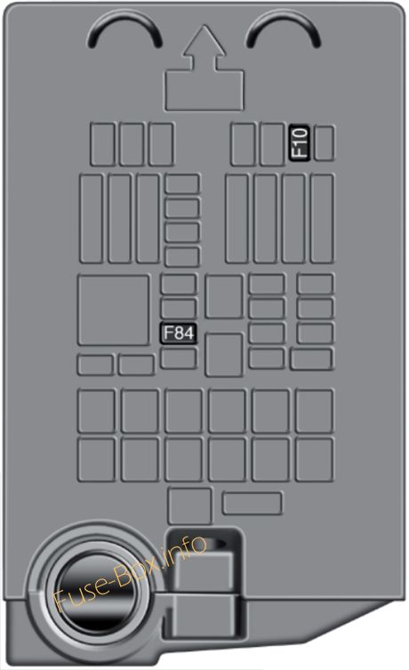 Under-hood fuse box diagram: Fiat 500X (2018)