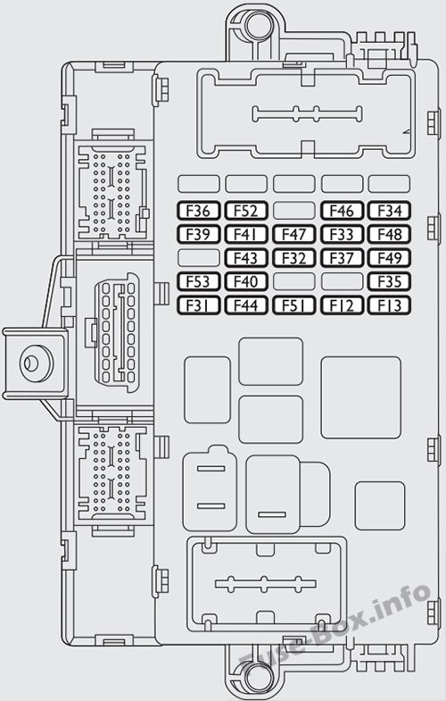 Instrument panel fuse box diagram: Fiat Bravo (2013)