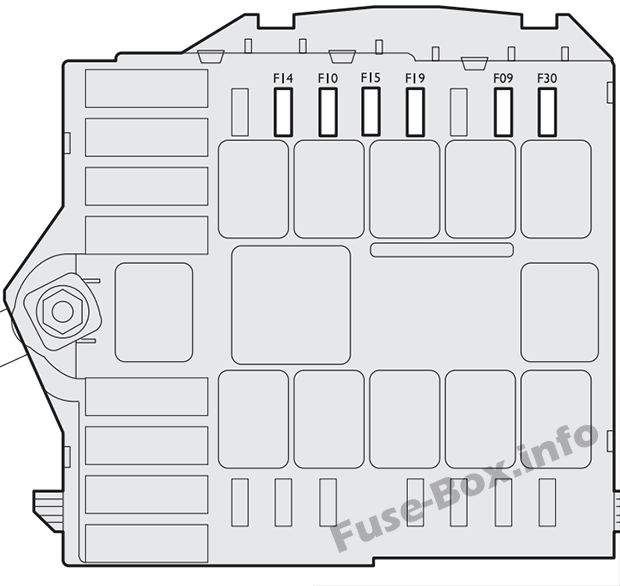 Under-hood fuse box diagram (ver.2): Fiat Bravo (2014, 2015)