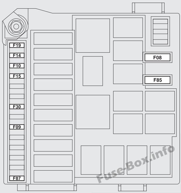 Under-hood fuse box diagram (ver.1): Fiat Bravo (2013)