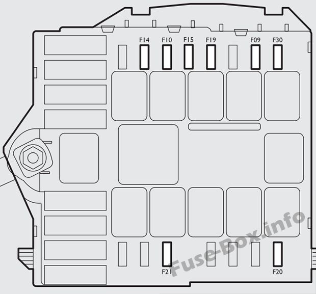 Under-hood fuse box diagram (ver.2): Fiat Bravo (2013)