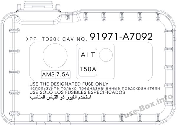 Fuse Box Diagram Kia Forte    Cerato  2014