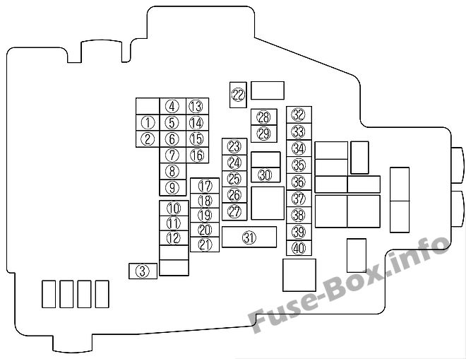 Fuse Box Diagram Mazda 6 (GH1; 2009-2012)Fuse-Box.info