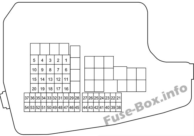 Under-hood fuse box diagram: Mazda 6 (2013, 2014, 2015)