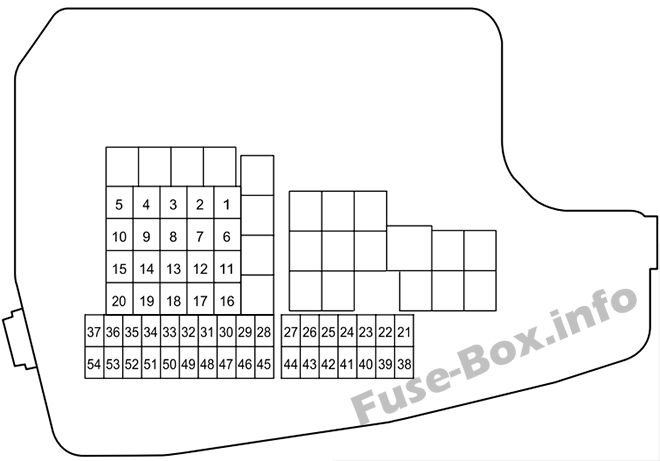 Under-hood fuse box diagram: Mazda CX-5 (2016)