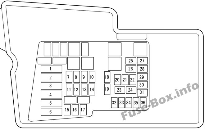 fuse box diagram mazda cx 7 2006 2012. Black Bedroom Furniture Sets. Home Design Ideas