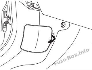 mazda cx 9 2016 2018 < fuse box diagram fuse box in the engine compartment