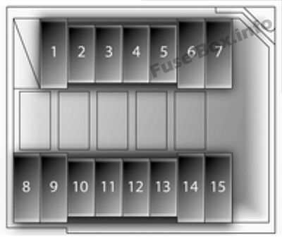Under-hood fuse box diagram (diesel): Opel/Vauxhall Agila B (2009, 2010)