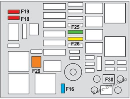 Under-hood fuse box diagram: Peugeot 2008 (2013, 2014, 2015)