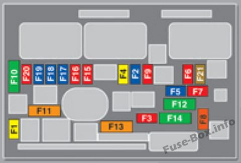 Under-hood fuse box diagram: Peugeot 3008 (2009, 2010)