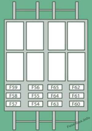 Door pillar fuse box diagram: Peugeot Boxer (2013, 2014)