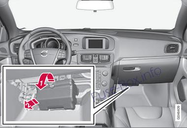 fuse box diagram volvo v40 2013 2019. Black Bedroom Furniture Sets. Home Design Ideas