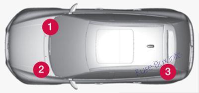 Fuse Box Diagram > Volvo XC60 (2009-2012)