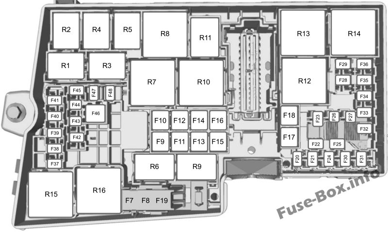Fuse Box Diagram Ford Escape  2013
