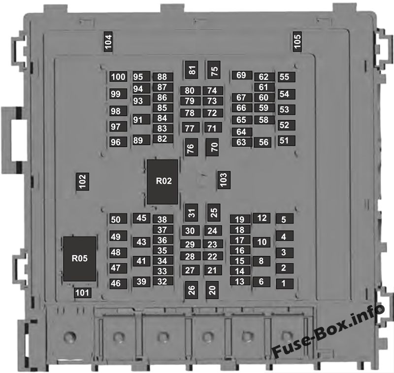 Fuse Box Diagram Ford Expedition U553 2018 2020
