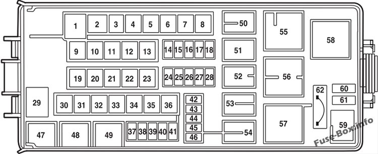 Under-hood fuse box diagram: Ford Explorer (2003)