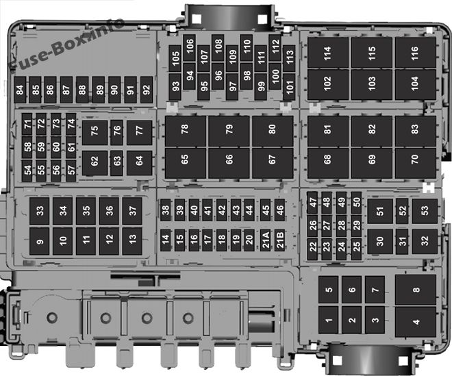Under-hood fuse box diagram: Ford F-150 (2017)