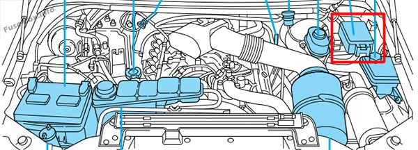 Fuse Box Diagram Ford F 250 F 350 F 450 F 550 2000 2003