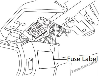 honda accord hybrid 2013 2017 fuse box diagram Electrical Wiring fuse locations are shown on the label on the side panel