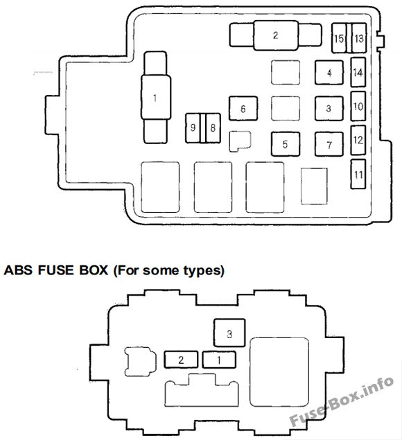fuse box diagram honda cr v 1995 2001. Black Bedroom Furniture Sets. Home Design Ideas