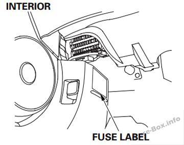 honda civic hybrid 2006 2011 < fuse box diagram engine compartment fuse box