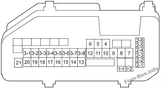 Under-hood fuse box diagram: Honda Crosstour (2012)