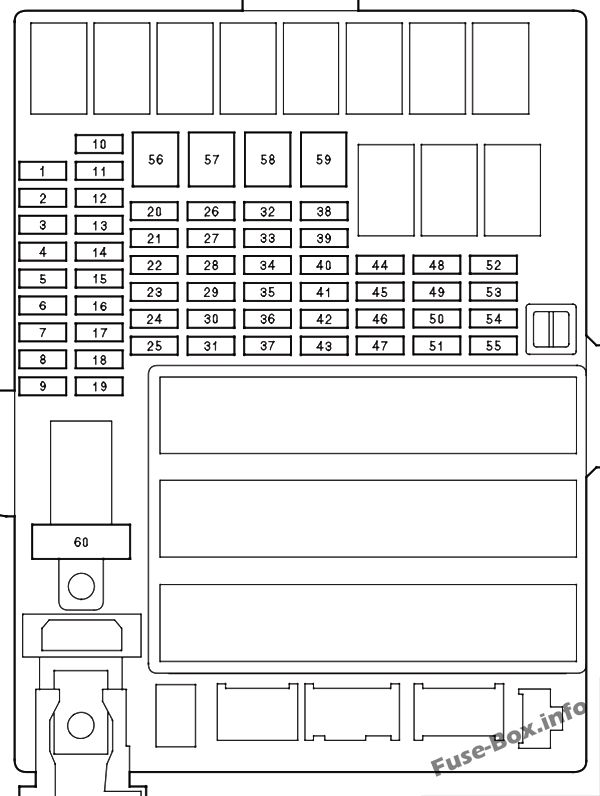Instrument panel fuse box diagram: Honda Insight (2010, 2011, 2012, 2013, 2014)