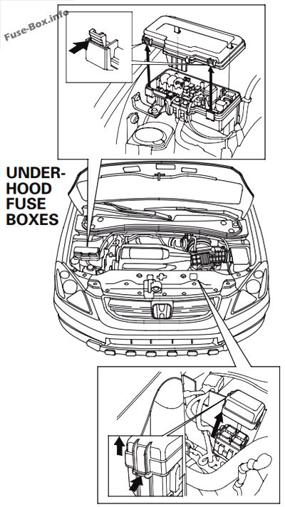 fuse box diagram honda pilot 2003 2008. Black Bedroom Furniture Sets. Home Design Ideas