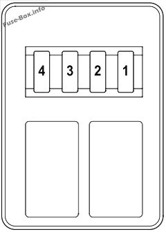 Trunk fuse box diagram: Honda Pilot (2012, 2013, 2014, 2015)