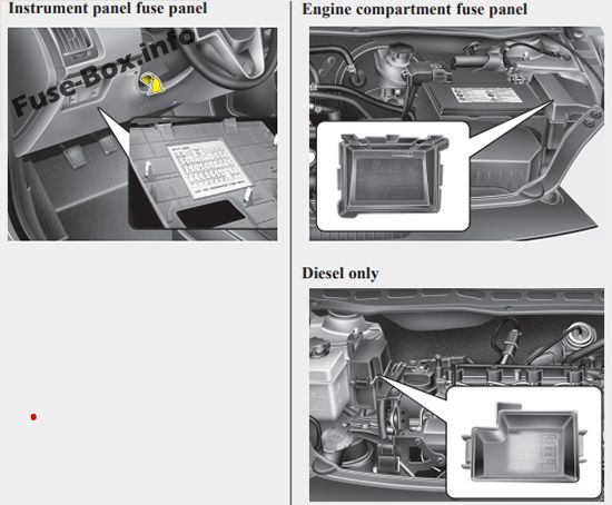 fuse box diagram hyundai i20 pb pbt 2008 2014. Black Bedroom Furniture Sets. Home Design Ideas