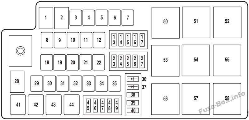 fuse box diagram lincoln mkz 2007 2012. Black Bedroom Furniture Sets. Home Design Ideas