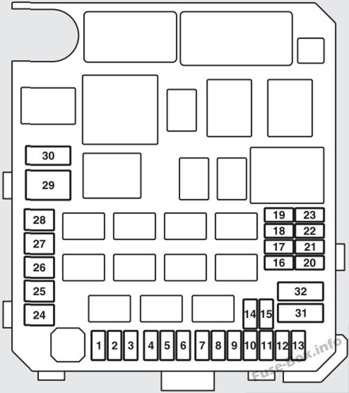 Fuse Box Diagram Mitsubishi Outlander (2007-2013) | 2014 Mitsubishi Outlander Fuse Box Diagram |  | Fuse-Box.info