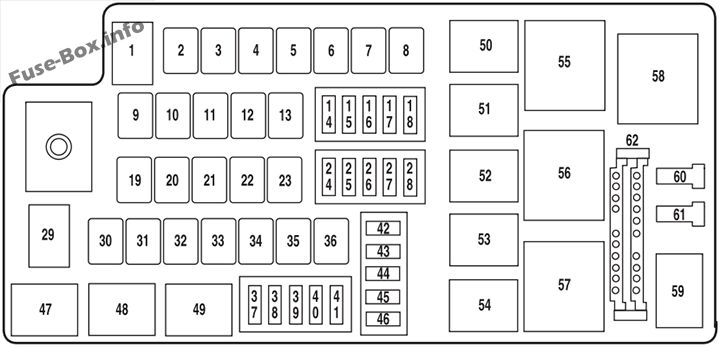 fuse box diagram ford freestyle 2005 2007. Black Bedroom Furniture Sets. Home Design Ideas