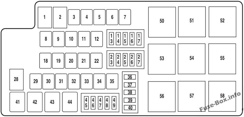 Fuse Box Diagram Ford Mustang (2010-2014)Fuse-Box.info