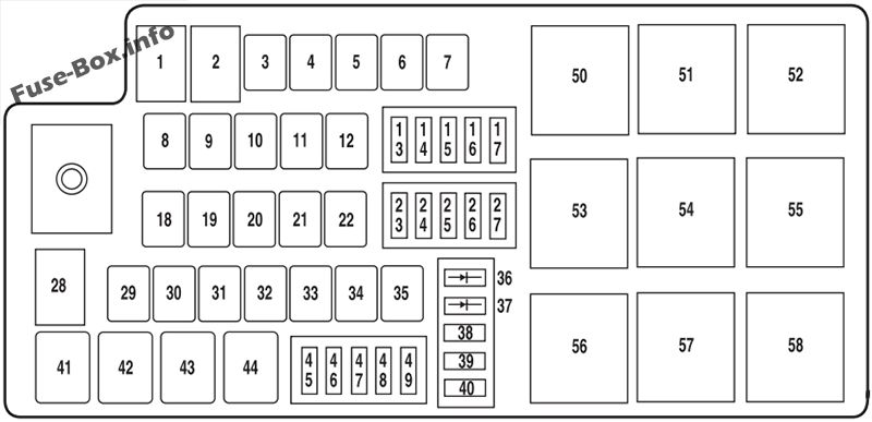 fuse box diagram ford taurus (2008-2009)  fuse-box.info