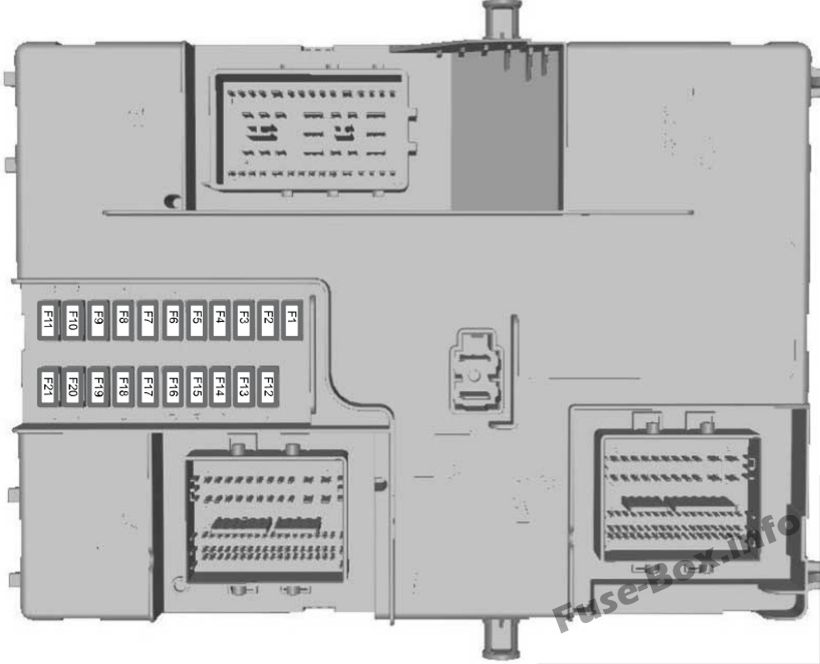 Ford Transit 2015 2018 Fuse Box Diagram