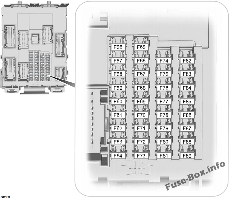 fuse box diagram ford transit connect (2014-2018)  fuse-box.info