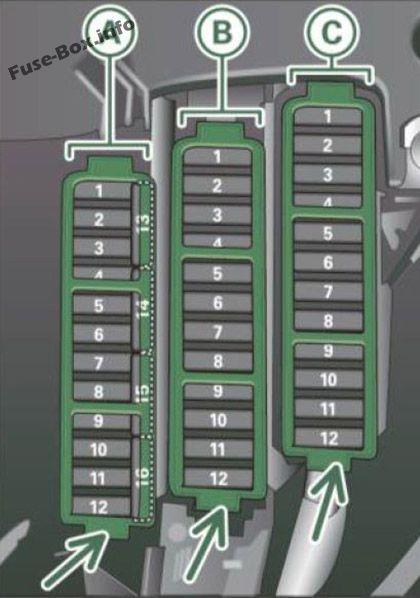 Fuse box diagram (Instrument panel (left cocpit)): Audi A5 / S5 (2010, 2011)