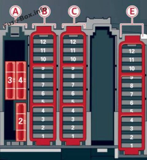 Fuse Box Diagram Audi A5 / S5 (2010-2016) | Audi Rs5 Fuse Box |  | Fuse-Box.info
