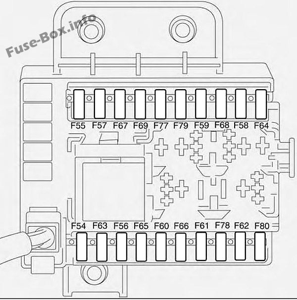 Trunk fuse box diagram: Fiat Croma (2005, 2006)