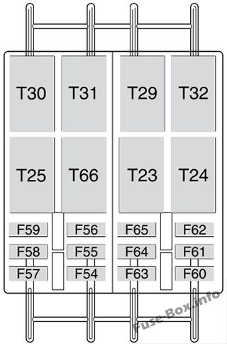 Optional fuse box (diagram): Fiat Ducato (2015, 2016, 2018, 2019)
